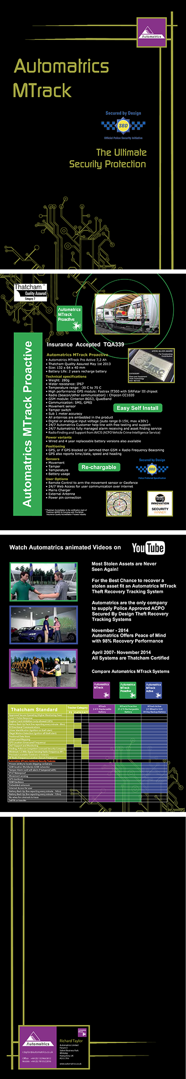 Automatrics MTrack Brochure for the Ultimate Security Protection
