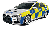 Tracker System Police Car for Automatrics MTrack Tracker recovery operations